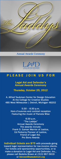 Invitation to the Laddys 2012 Awards Ceremony